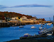 Fishing and lobster fleet, New Harbor, Pemaquid area of Maine.