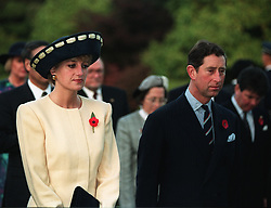 File photo dated 02/11/1992 of the Prince and Princess of Wales during a visit to South Korea. A candid letter written by the Prince of Wales following his separation from Princess Diana is to be auctioned.