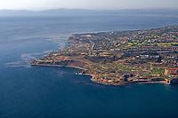 Aerial view of Palos Verdes looking northwest toward Santa Monica.