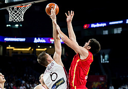 Kristaps Porzingis of Latvia vs Marko Todorovic of Montenegro during basketball match between National Teams of Latvia and Montenegro at Day 11 in Round of 16 of the FIBA EuroBasket 2017 at Sinan Erdem Dome in Istanbul, Turkey on September 10, 2017. Photo by Vid Ponikvar / Sportida