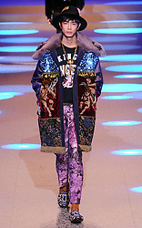 Men's Fashion Week, Dolce Gabbana Fashion Show. 13 Jan 2018 Pictured: Men's Fashion Week, Dolce Gabbana Fashion Show. Photo credit: Fotogramma / MEGA TheMegaAgency.com +1 888 505 6342