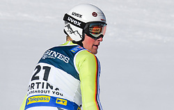 15.02.2021, Cortina, ITA, FIS Weltmeisterschaften Ski Alpin, Alpine Kombination, Herren, Super G, im Bild Simon Jocher (GER) // Simon Jocher of Germany reacts after the Super G competition for the men's alpine combined of FIS Alpine Ski World Championships 2021 in Cortina, Italy on 2021/02/15. EXPA Pictures © 2021, PhotoCredit: EXPA/ Erich Spiess