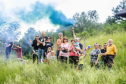 Fans during 3rd Stage of 27th Tour of Slovenia 2021 cycling race between Brezice and Krsko (165,8 km), on June 11, 2021 in Brezice - Krsko, Brezice - Krsko, Slovenia. Photo by Vid Ponikvar / Sportida