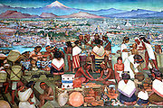 MEXICO, MEXICO CITY, MURALS Rivera's 'Grand Tenochtitlan' Aztec Capital