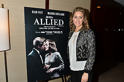 AMY WILLIAMS at a screening of Paramount Pictures 'Allied' hosted by Rosie Nixon of Hello! Magazine at The Bulgari Hotel, 171 Knightsbridge, London on 23rd November 2016.