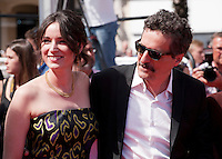 Emilie Lesclaux and Kleber Mendonca Filho at the gala screening for the film Aquarius at the 69th Cannes Film Festival, Tuesday 17th May 2016, Cannes, France. Photography: Doreen Kennedy