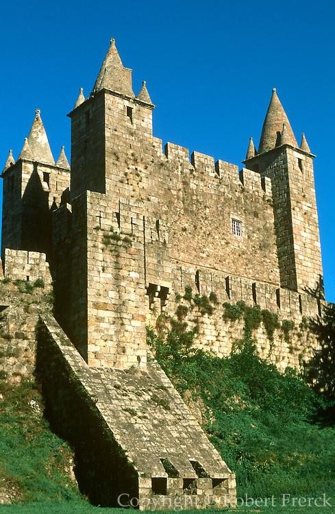 PORTUGAL, BEIRA LITORAL Castelo da Feira castle, south of Porto