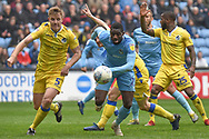 Coventry City striker Amadou Bakayoko (21) chases down the ball during the EFL Sky Bet League 1 match between Coventry City and Bristol Rovers at the Ricoh Arena, Coventry, England on 7 April 2019.