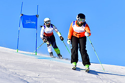 PERRINE Melissa Guide: KELLY Bobbi, B2, AUS, Giant Slalom at the WPAS_2019 Alpine Skiing World Cup, La Molina, Spain