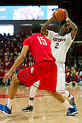 DALLAS, TX - JANUARY 4: DeAndre Daniels #2 of the Connecticut Huskies brings the ball up court against the SMU Mustangs on January 4, 2014 at Moody Coliseum in Dallas, Texas.  (Photo by Cooper Neill) *** Local Caption *** DeAndre Daniels