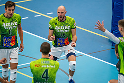 Jasper Diefenbach #16 of Orion in action during the supercup final between Amysoft Lycurgus - Active Living Orion on October 04, 2020 in Van der Knaaphal, Ede