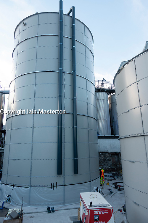 Anaerobic Digestion Plant being installed at Tennent Caledonian Breweries  Wellpark Brewery in Glasgow, Scotland, UK *Editorial Use Only*