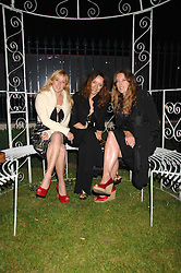 Left to right, sisters MATILDA TEMPERLEY, ALICE TEMPERLEY and MARY TEMPERLEY at the Quintessentially Summer Party at the Wallace Collection, Manchester Square, London on 6th June 2007.<br /><br />NON EXCLUSIVE - WORLD RIGHTS