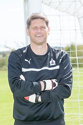 Goalkeeping Coach Derek Jackson. Falkirk FC training down south before next weeks Cup Final.
