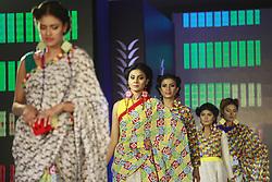 April 3, 2017 - Bangladeshi models display cloths during a fashion show in Dhaka, Bangladesh, April 3, 2017. (Credit Image: © Suvra Kanti Das via ZUMA Wire)