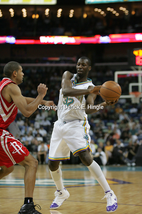 on February 22, 2008 at the New Orleans Arena in New Orleans, Louisiana. The New Orleans Hornets lost to the Houston Rockets 100-80.