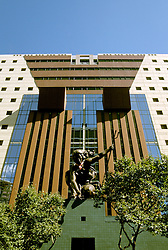 Oregon: Portland, Portlandia sculpture, Portland Building, Photo: orport104  .Photo copyright Lee Foster, www.fostertravel.com, 510/549-2202, lee@fostertravel.com