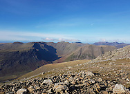 Fantastic views over Pillar, Kirk Fell and Red Pikle from the summit of Sca Fell