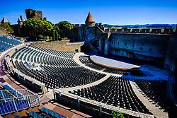 The spectacular 3,000 seat amphitheatre in the medieval Cité de Carcassonne<br /> <br /> (c) Andrew Wilson   Edinburgh Elite media