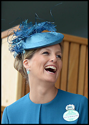 The Countess of Wessex in the Royal box at the Opening day of Royal Ascot 2013 Ascot, United Kingdom<br /> Tuesday, 18th June 2013,<br /> Picture by Andrew Parsons / i-Images