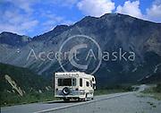 Alaska. Fairbanks. Rainbow Ridge. RV Camper van.