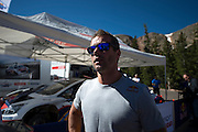 June 26-30 - Pikes Peak Colorado. Sebastian Loeb speaks to media after practice for the 91st running of the Pikes Peak Hill Climb.