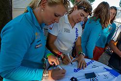 Signing Delta Lloyd shirts by the Dutch Olympic team. May 26th 2012. Delta Lloyd Regatta  (22/26 May 2012). Medemblik - the Netherlands.