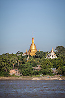 The journey from Mandalay to Bagan has plenty of interest with temples and pagodas in villages along its shores.