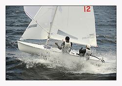 470 Class European Championships Largs - Day 3.Brighter conditions with more wind...SUI12, Fiona TESTUZ, Anne-sophie THILO, Club Nautique Pully.