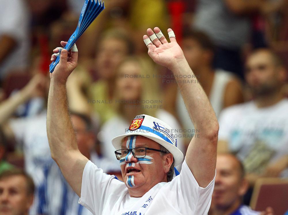 06.09.2014, Spodek, Katowice, POL, FIVT WM, Finnland vs Deutschland, Gruppe B, im Bild KIBICE FINLANDIA FANI // during the FIVB Volleyball Men's World Championships Pool B Match beween Finland and Germany at the Spodek in Katowice, Poland on 2014/09/06. <br /> <br /> ***NETHERLANDS ONLY***