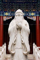 Statue of Confucius at Confician Shrine in beijing