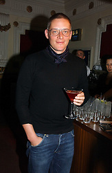 Designer GILES DEACON at the Grand Classics screening of Manhattan hosted by Giles Deacon at the Electric Cinema, Portobello Road, London W11 on 13th November 2006.<br /><br />NON EXCLUSIVE - WORLD RIGHTS
