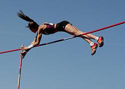 Felicia Miloro in the Pole Vault during the Loughborough International Athletics Meeting at the Paula Radcliffe Stadium, Loughborough.