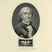 Georges-Louis Leclerc, Comte de Buffon (France 7 September 1707 – 16 April 1788) was a French naturalist, mathematician, cosmologist, and encyclopédiste. Copperplate engraving From the Encyclopaedia Londinensis or, Universal dictionary of arts, sciences, and literature; Volume IV;  Edited by Wilkes, John. Published in London in 1810