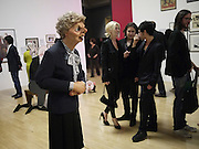LUCK AND FLAW'S MARGARET THATCHER; ANASTASIA LENGLET; ADAM WAYMOUTH; TIM NOBLE, Opening of Rude Britannia. Tate Britain. Millbank. London. 7 June 2010. -DO NOT ARCHIVE-© Copyright Photograph by Dafydd Jones. 248 Clapham Rd. London SW9 0PZ. Tel 0207 820 0771. www.dafjones.com.