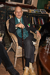 Naim Attallah at a party to celebrate the publication of Saving The World by Paola Diana at Daunt Books, Marylebone, London England. 2 May 2018.