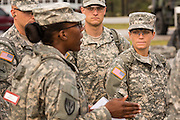 Male and female Drill Sergeant candidates at the US Army Drill Instructors School Fort Jackson during formation September 26, 2013 in Columbia, SC. While 14 percent of the Army is women soldiers there is a shortage of female Drill Sergeants.