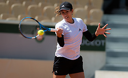 May 23, 2019 - Paris, FRANCE - Garbine Muguruza of Spain during practice at the 2019 Roland Garros Grand Slam tennis tournament (Credit Image: © AFP7 via ZUMA Wire)