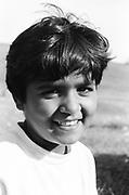 """Lacramioara Gangal à 8 ans à l'orphelinat de Popricani en 1995. Lacramioara - que tout le monde surnommait Ciocolata du fait de son sein très mat - a été abandonnée à la naissance.<br /> <br /> Lacramioara Gangal at 8 at Popricani's orphanage in 1995. Lacramioara, whose nickname has always been """"Ciocolata"""" because of her dark skin, was abandoned at birth."""