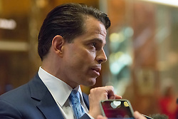 Anthony Scaramucci, finacial adviser to President-elect Donald J. Trump, speaks with members of the presss upon arrival at Trump Tower in New York, NY, USA on November 30, 2016. (Photo by Albin Lohr-Jones)