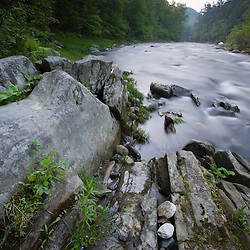 West Branch of the Westfield River in Chesterfield, Massachusetts. Just below Chesterfield Gorge.