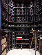The wine cellar in the home of Jerry and Patty Jurgensen on the top floor of the the North Bank Condominium building in the Arens District. (Will Shilling/Capital Style