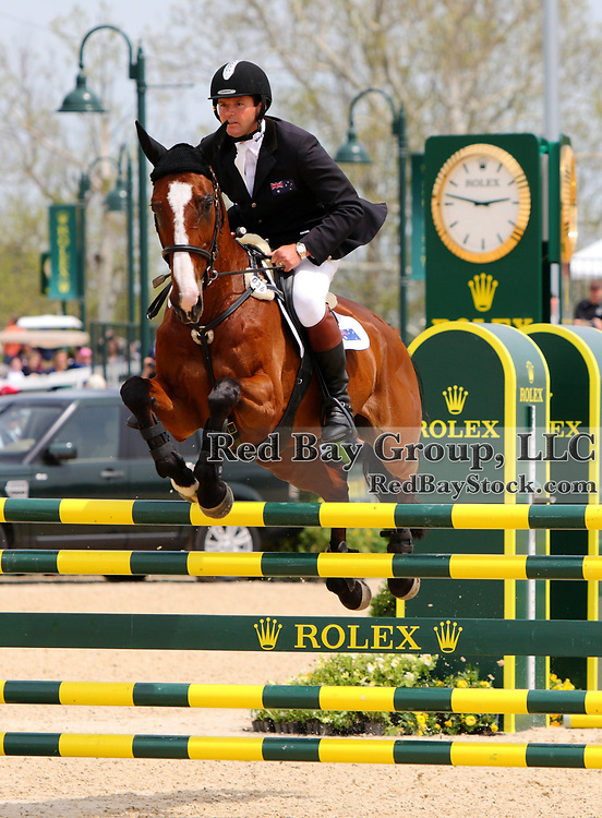 Clayton Fredericks and Be My Guest at the 2011 Rolex Kentucky Three-Day Event in Lexington, KY.