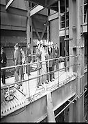 Tanaiste,Dick Spring,Visits Moneypoint..1984..23.11.1984..11.23.1984..23rd November 1984..The Tanaiste and Minister for Energy,Mr Dick Spring,visited Moneypoint Generating Station,Co Clare. He visited the site to view the progress of work there...A view of work in progress within the Moneypoint,Generating Station,Co Clare.