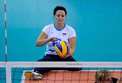 01-09-2012 ZITVOLLEYBAL: PARALYMPISCHE SPELEN 2012 USA - SLOVENIE: LONDEN.In ExCel South Arena wint USA van Slovenie / Suzana OCEPEK.©2012-FotoHoogendoorn.nl.