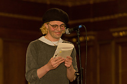 "© Licensed to London News Pictures. 25/04/2012. London, UK. Tim Burgess, British Indie-rock legend from ""The Charlatans"", launches his revealing memoir ""Telling Stories"" this week.  In it he describes how he dealt with his crises, and whats gone right with the band as much as whats gone wrong.  At St James Church this evening Tim read excerpts from the book, held a Q&A with the audience, and played acoustic versions of classic The Charlatans songs.  The Charlatans will be touring the Tellin Stories album this summer at the HMV Hammersmith Apollo, Glasgow and Manchester.  Photo credit : Richard Isaac/LNP"