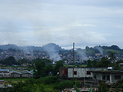 July 3, 2017 - Marawi City, Philippines - Continuous air strikes, mortar blasts and bomb attacts in areas where some Maute terrorist groups are still at large. The diminishing numbers of the terrorist will soon free the Islamic City from devastation and plans of reconstruction the city is underway. (Credit Image: © Sherbien Dacalanio/Pacific Press via ZUMA Wire)