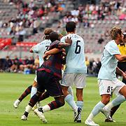 NLD/Amsterdam/20070802 - LG Amsterdams Tournament 2007, Lazio Roma - Arsenal, duw en trekken bij een hoekschop