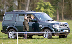 Princess Royal at the Land Rover Gatcombe Horse Trials on her Gloucestershire estate.