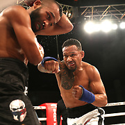 FORT LAUDERDALE, FL - FEBRUARY 15: Luis Palomino (R) fights Elvin Brito during the Bare Knuckle Fighting Championships at Greater Fort Lauderdale Convention Center on February 15, 2020 in Fort Lauderdale, Florida. (Photo by Alex Menendez/Getty Images) *** Local Caption *** Luis Palomino; Elvin Brito